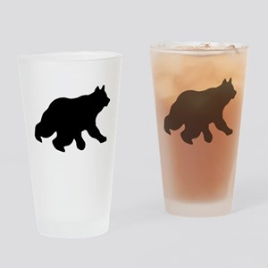 Black Bear Cub Crossing Walking Silhouette Drinkin