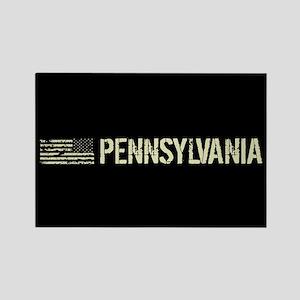 Black Flag: Pennsylvania Rectangle Magnet