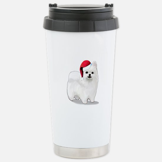 Christmas Pomeranian Stainless Steel Travel Mug