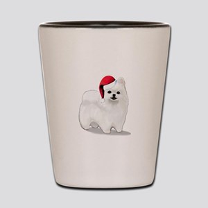 Christmas Pomeranian Shot Glass