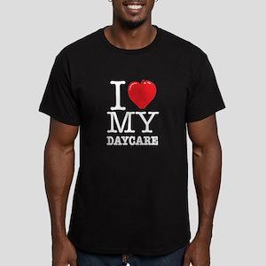 ILoveMyDaycareLogo Men's Fitted T-Shirt (dark)