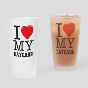 ILoveMyDaycareLogo Drinking Glass