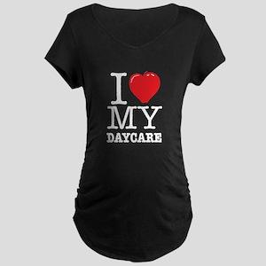 ILoveMyDaycareLogo Maternity Dark T-Shirt