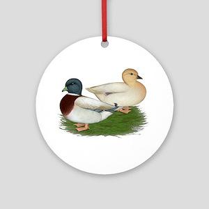 Pastel Call Ducks Ornament (Round)