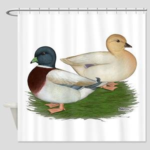 Pastel Call Ducks Shower Curtain