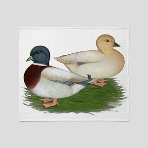 Pastel Call Ducks Throw Blanket