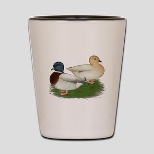Pastel Call Ducks Shot Glass