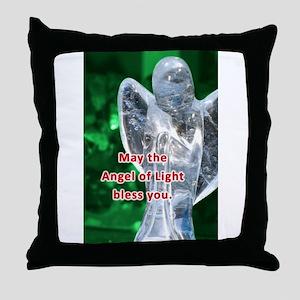 Angel of Light Blessing Throw Pillow