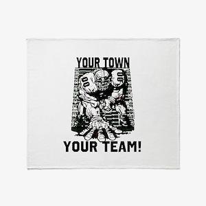 Customizable Defense Throw Blanket