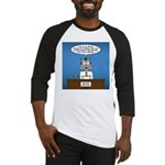 Cat Breaking News Baseball Tee