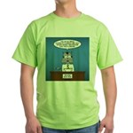 Cat Breaking News Green T-Shirt