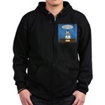 Cat Breaking News Zip Hoodie (dark)
