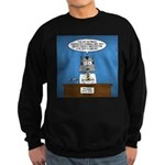Cat Breaking News Sweatshirt (dark)