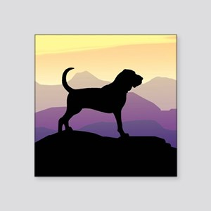 purple mountains bloodhound sq Square Sticker