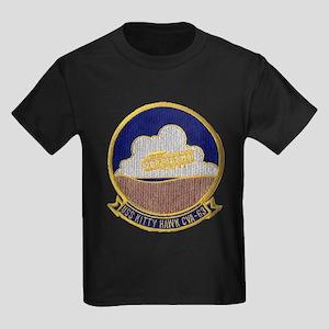 USS KITTY HAWK Kids Dark T-Shirt