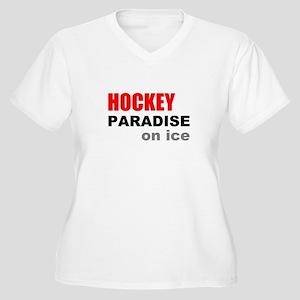 Paradise on Ice Women's Plus Size V-Neck T-Shirt