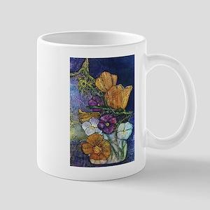 Poppies & Pansies Mug