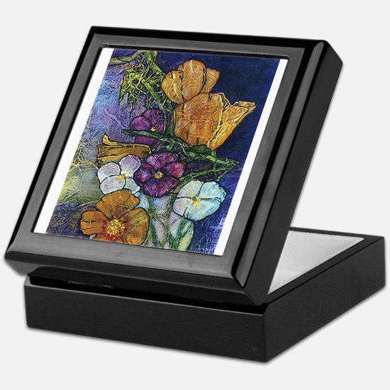 Poppies & Pansies Keepsake Box