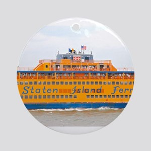 NYC: Staten Island Ferry Ornament (Round)