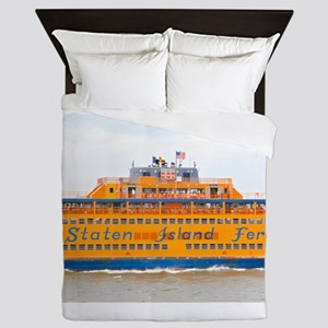 NYC: Staten Island Ferry Queen Duvet