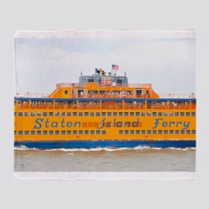 NYC: Staten Island Ferry Throw Blanket