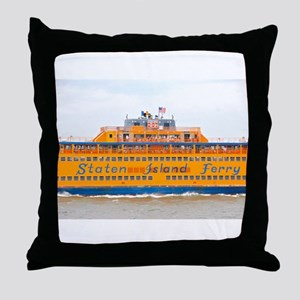 NYC: Staten Island Ferry Throw Pillow