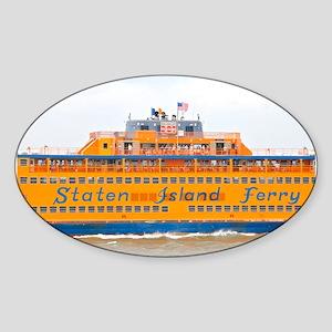 NYC: Staten Island Ferry Sticker (Oval)