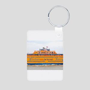 NYC: Staten Island Ferry Aluminum Photo Keychain