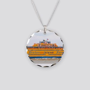 NYC: Staten Island Ferry Necklace Circle Charm
