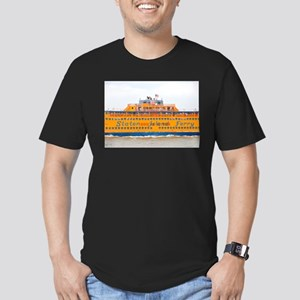 NYC: Staten Island Ferry Men's Fitted T-Shirt (dar