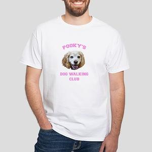 Pink Logo Unisex White T-Shirt