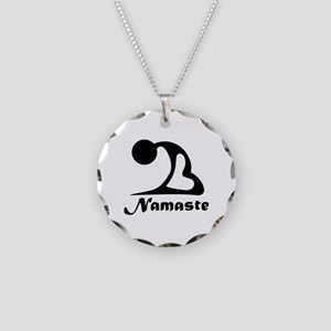 Namaste Necklace Circle Charm