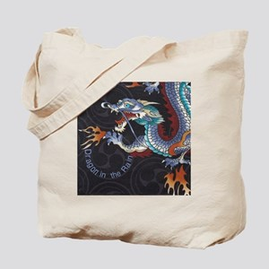 Dragon in the Rain Tote Bag