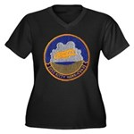 USS KITTY HA Women's Plus Size V-Neck Dark T-Shirt