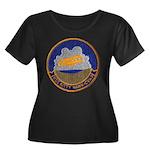 USS KITT Women's Plus Size Scoop Neck Dark T-Shirt