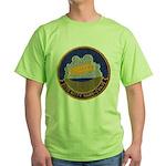 USS KITTY HAWK Green T-Shirt