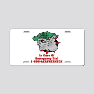 1-800-LEATHERNECK Aluminum License Plate
