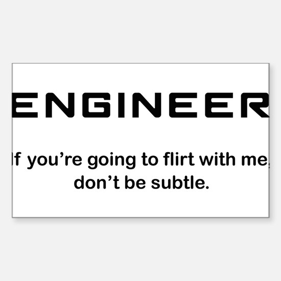 Engineer Sticker (Rectangle)