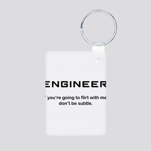 Engineer Aluminum Photo Keychain