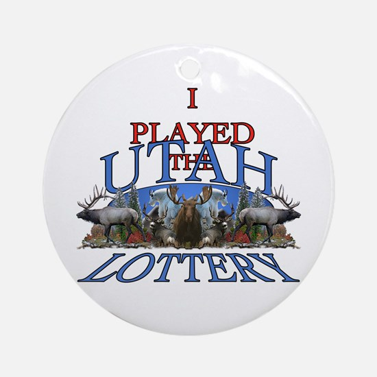 Utah lottery Ornament (Round)