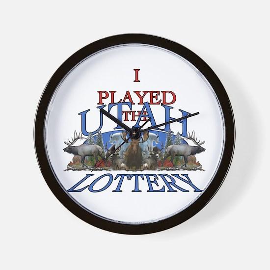 Utah lottery Wall Clock