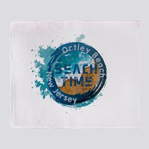 New Jersey - Ortley Beach (Toms Rive Throw Blanket