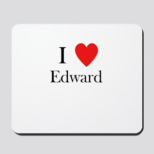 i love Edward heart Mousepad