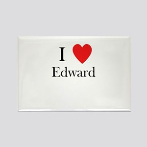 i love Edward heart Rectangle Magnet