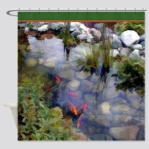 Koi Pond copy Shower Curtain