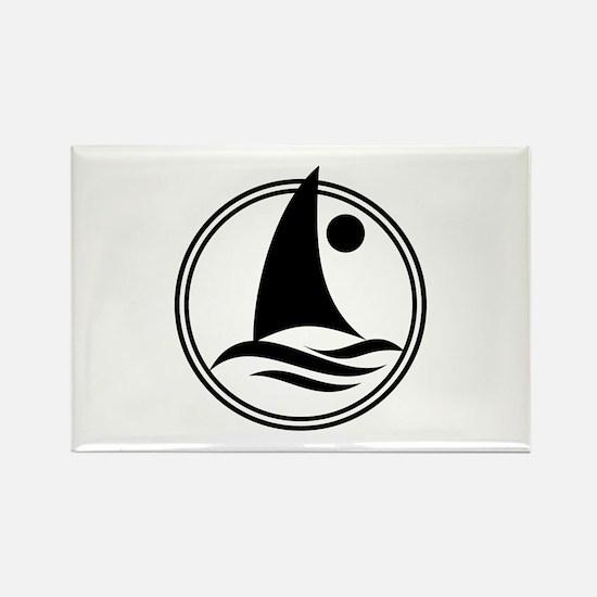 Boat Rectangle Magnet