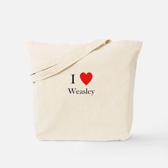 i love weasley Tote Bag