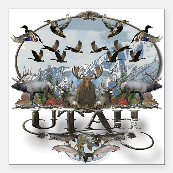 """Utah outdoors Square Car Magnet 3"""" x 3"""""""