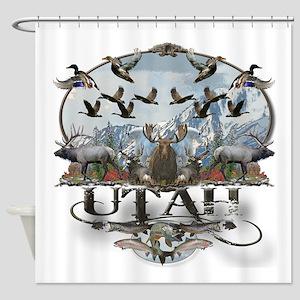 Utah outdoors Shower Curtain