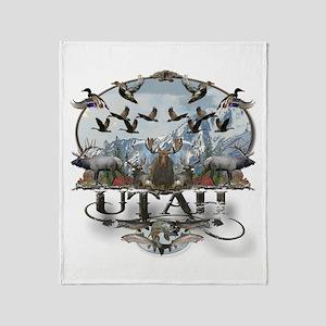 Utah outdoors Throw Blanket
